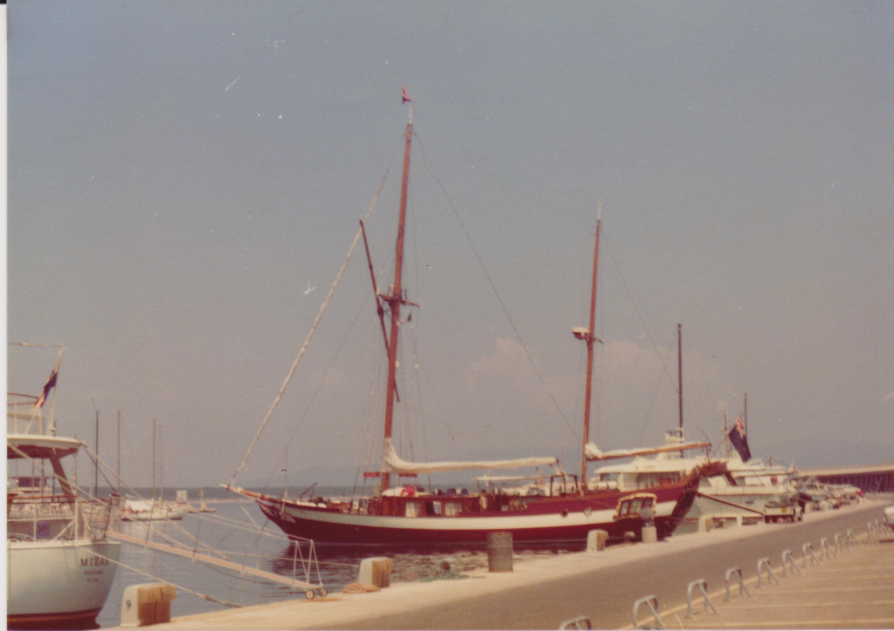 Classic ship in marina